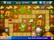 保卫萝卜沙漠模式第2关 小游戏视频攻略
