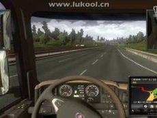 欧洲卡车模拟 倒车还有点苦难,左转弯要大转[eur