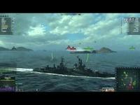 热播内容 海战世界-美系-金币重巡-波特兰-两场-Lion老虎解说-海战世界