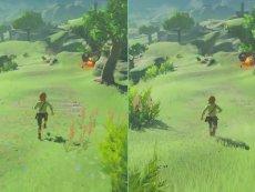 塞尔达传说-荒野之息 WII U VS Switch  画面特效对比视频  1080P 60帧 合集
