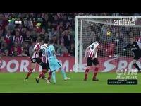 赛季西甲联赛第10轮集锦毕尔巴鄂竞技VS巴塞罗那